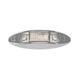 "Pacer Performance® - Deluxe 4""x1"" Oval Chrome LED Side Marker Light"