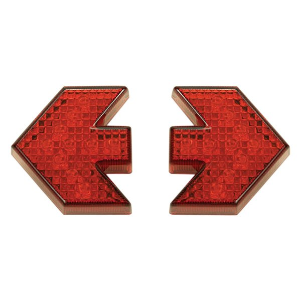 "Pacer Performance® - Arrow-Style 2"" Red LED Side Marker Lights"