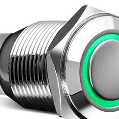 Weatherproof Metal Switch Green