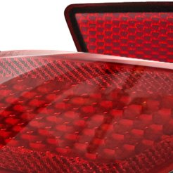 Red Curved Reflector