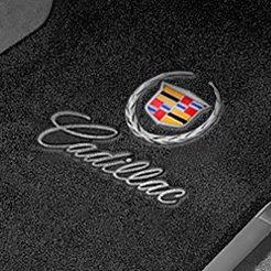 Gray Carpet Mat With Cadillac Logo