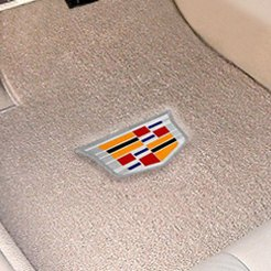 Tan Carpet Mat With Cadillac Logo