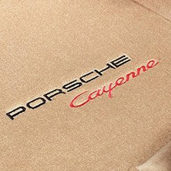 Tan Carpet Mat With Porsche Cayenne Logo