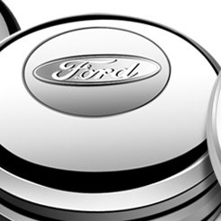Low Profile Ford Oval Brilliant Polished Aluminum Horn Button