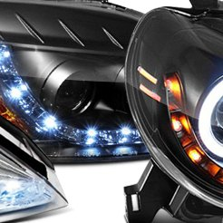 Black Custom LED Head Lights