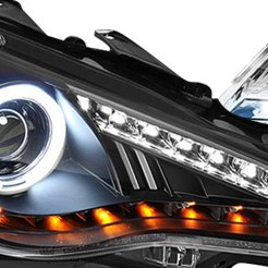 Black Halo LED Headlight