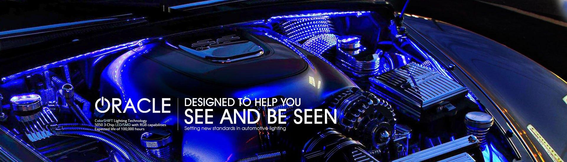 Automotive led lights bars strips halos bulbs custom light kits 4 8 select vehicle aloadofball Images