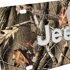 Jeep Logo Camo Flage Steel License Plate
