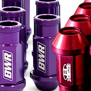 Blackworks Racing® Aluminum Series Purple Lug Nut Set
