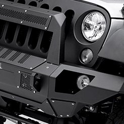 Offroad Front Bumper with Stubby End Caps and Rockline Light Mount Bar