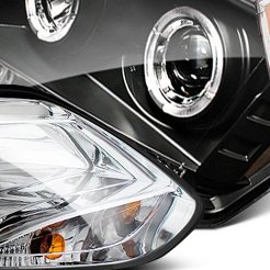 IPCW Black Halo Projector Headlights With LEDs