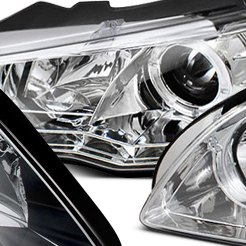 Spyder Chrome Halo Projector Headlights With LEDs