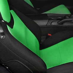 Coverking® Black/Green Seat Covers