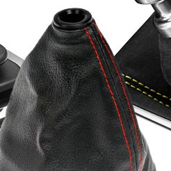 Black Shift Boot with Red Strip