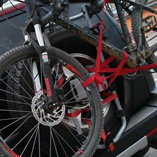 Black Spare Tire Bike Racks