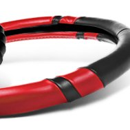 Aftermarket Black/Red Leather Steering Wheel Cover