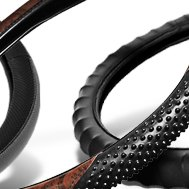 Burlwood Steering Wheel Cover with Massage Grip