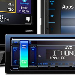 JVC® - Single DIN CD/AM/FM/MP3/AAC Receiver with Front AUX Input