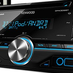 Kenwood® - Double DIN CD/AM/FM/MP3/WMA Receiver with Built-In Bluetooth