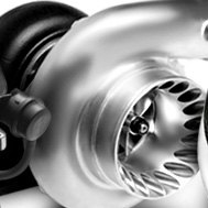 Black and Silver Turbocharger