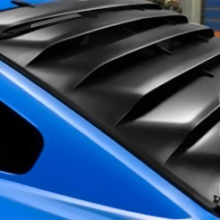 Blue Car Rear Window Louvers