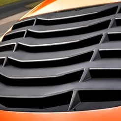 Orange Car Rear Window Louvers
