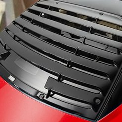 Red Car Window Louvers