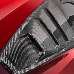 Red Car Side Window Louvers