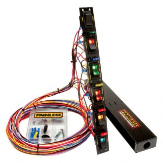 Painless Performance® - Fused Dragster Vertical 6 Switch Panel