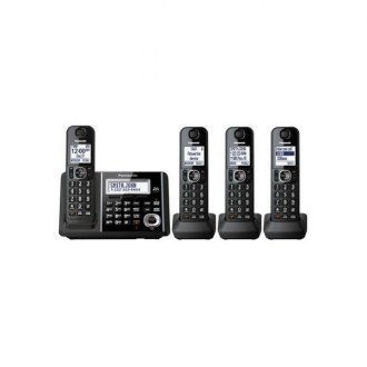 Panasonic® - Cordless Phone and Answering Machine with 4 Handsets