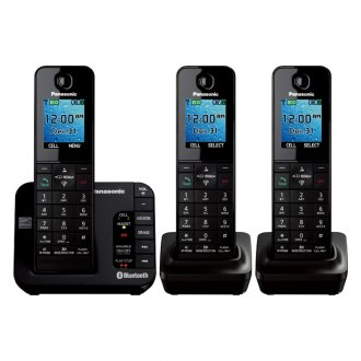 Panasonic® - New! Link2Cell Bluetooth Cellular Convergence Solution With 3 Handsets