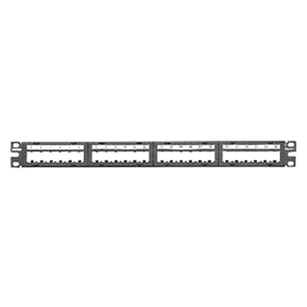 panduit 174 cppl24m6bly black modular patch panel