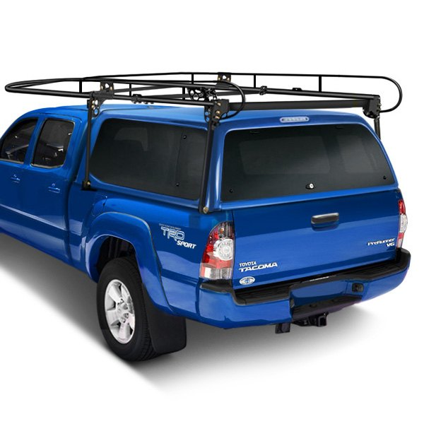 Paramount Automotive® - Work Force™ Black Full Size Camper Shell Contractors Rack