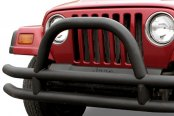 Paramount Automotive® - Off Road™ Fat Tubular Black Front Bumper with Hoop
