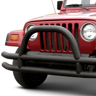 Paramount® - Off Road™ Fat Tubular Black Front Bumper with Hoop