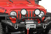 Paramount Automotive® - Off Road™ Xtreme Black Front Bumper with LED Lights