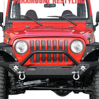 Paramount® - Off Road™ Rock Crawler Heavy Duty Black Front Bumper with LED Lights