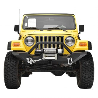 Paramount® - Off Road™ Rock Crawler Heavy Duty Black Front Bumper with Receiver