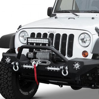 Image may not reflect your exact vehicle! Paramount® - Off Road™ Heavy Duty Rock Crawler Front Bumper With LED Lights