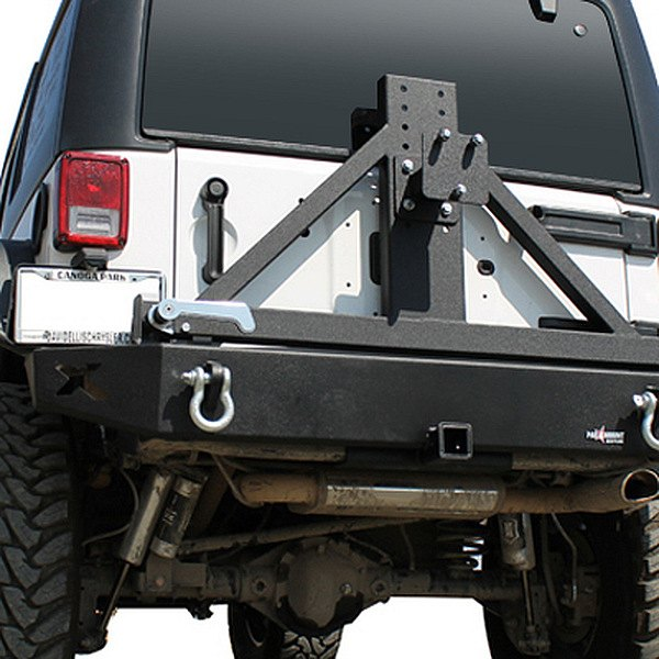 Paramount Automotive® - Off Road™ Black Rear Bumper with Tire Carrier
