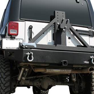 Paramount® - Off Road™ Black Rear Bumper with Tire Carrier