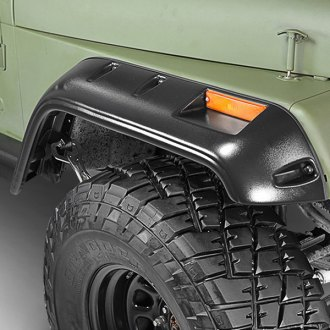 Paramount® - Traildriver Series Rivet Style Satin Black Front and Rear Fender Flares