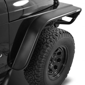 Paramount® - Traildriver Series Flat Style Satin Black Front and Rear Fender Flares