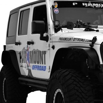 Paramount® - Off Road™ Black Steel Sharp Stubby Fender Flares
