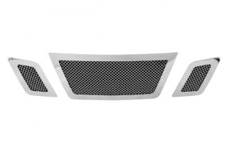Paramount Automotive® - Restyling™ 3-Pc Chrome Perimeter Wire Mesh Main Grille