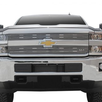 Paramount® - 2-Pc Restyling™ Polished 4mm Horizontal Billet Main Grille