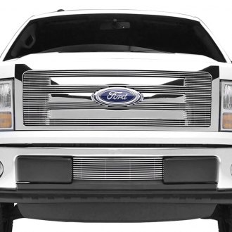 Paramount® - 1-Pc Polished 4mm Horizontal Billet Grille