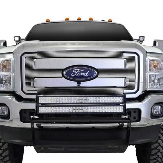 Paramount® - 1-Pc Polished 4mm Horizontal Billet Main Grille