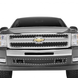Paramount® - 2-Pc Restyling™ Evolution Textured Black Wire Mesh Grille