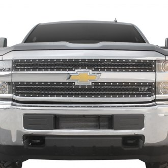 Paramount® - 2-Pc Restyling™ Evolution Textured Black Wire Mesh Main Grille